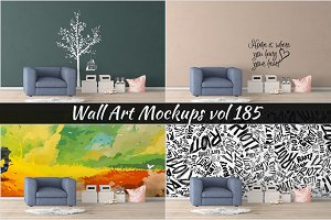 Wall Mockup - Sticker Mockup Vol 185