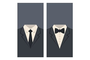 Suits and Ties Flat Style Set