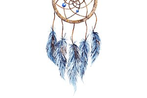 Watercolor ethnic dreamcatcher