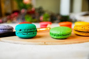 Macarons on an Art Palette