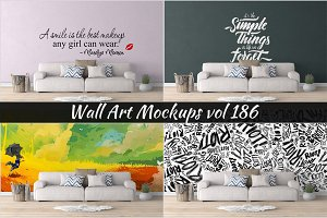 Wall Mockup - Sticker Mockup Vol 186