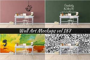 Wall Mockup - Sticker Mockup Vol 187