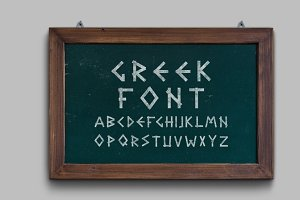Greek letters - english alphabet.