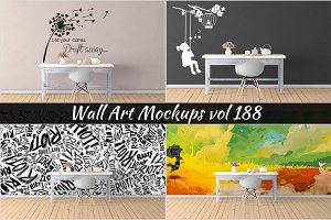Wall Mockup - Sticker Mockup Vol 188