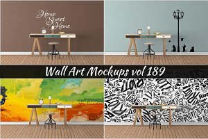 Wall Mockup - Sticker Mockup Vol 189