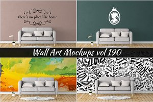 Wall Mockup - Sticker Mockup Vol 190