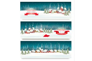 Holiday landscape banners
