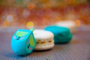 Holiday Dreidel + Macarons