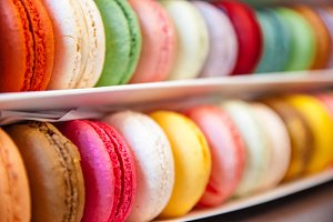 Double Row Colorful Macarons