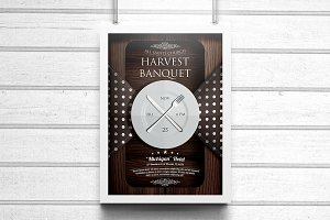 Harvest Banquet Church Flyer