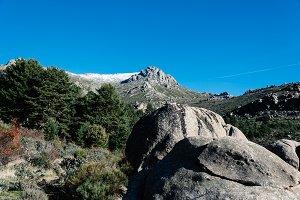 Rocky mountains against blue sky