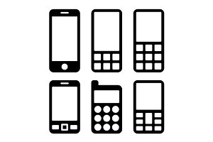 Smartphones Icons Set