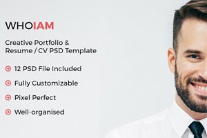 WHOIAM Creative & Resume Template