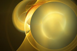 Yellow sun flame circles abstract background