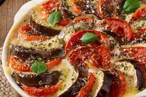 Gratin dish eggplant