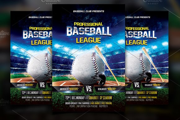 baseball flyer template flyers