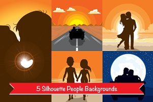 5 Silhouette People Backgrounds