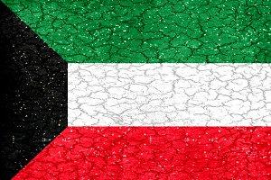 Kuwait Grunge Flag