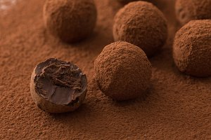 black chocolate truffles