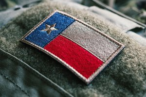 Texas Flag Patch On The Bulletproof Plate Carrier