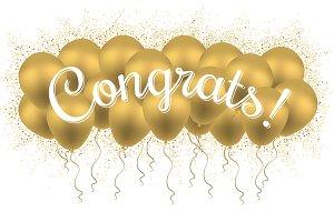 Congrats! Congratulation Banner.