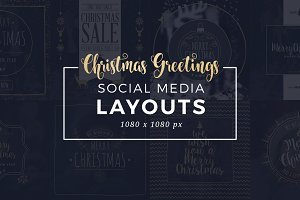 Christmas Social Media Layouts