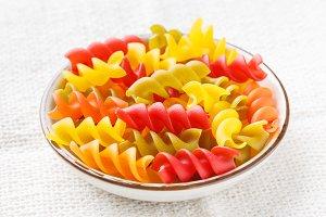 pasta spirals macaroni