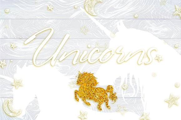 Unicorns - set 1. in Illustrations