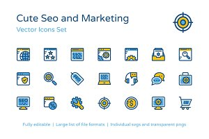 150+ Cute SEO and Marketing Icons