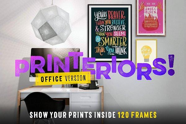 Printeriors Office! Frame Mockups
