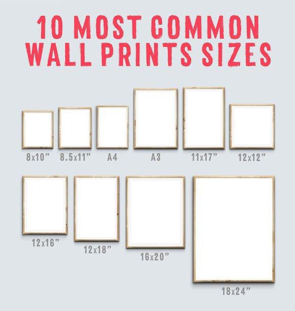 printeriors office frame mockups product mockups creative market