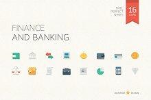 Finance & Banking Flat Icons