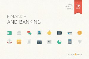 Finance & Banking Flat Icons