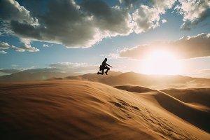 Jumping in the desert