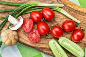 Vegetables ingridients for salad
