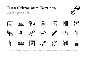 75+ Cute Crime and Security Icons