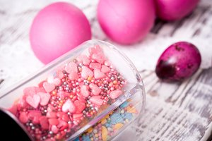 Easter eggs and decor