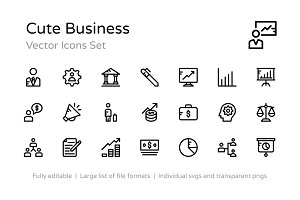 100+ Cute Business Icons