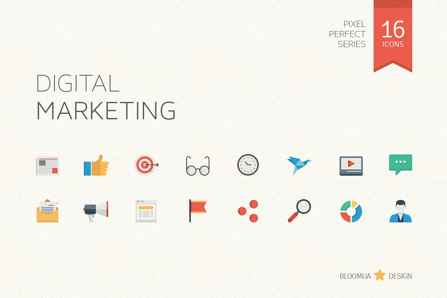Digital Marketing Flat Icons