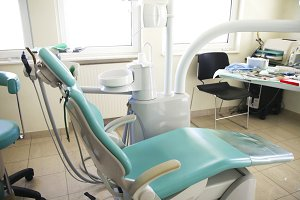 Interior of dentist office