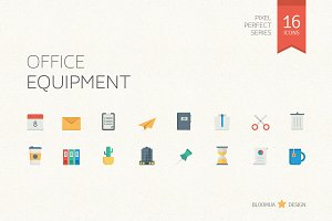 Office Equipment Flat Icons