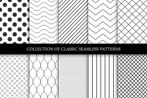 Minimal seamless geometric patterns