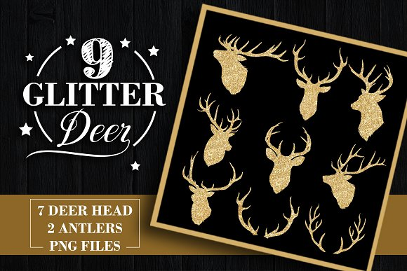 Glitter Deers - Objects
