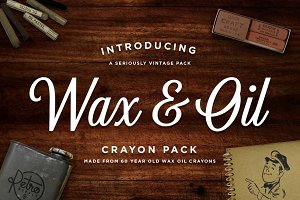 Wax & Oil Illustrator Brushes
