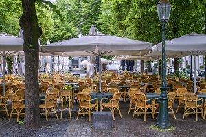 European outdoor café