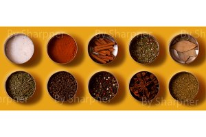 Bright set of spices