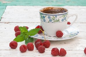 Coffee and raspberry