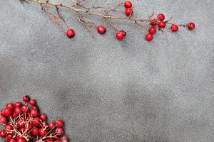 Christmas card with berries