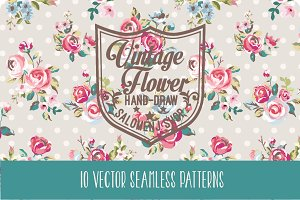 Seamless vintage patterns Vol.2