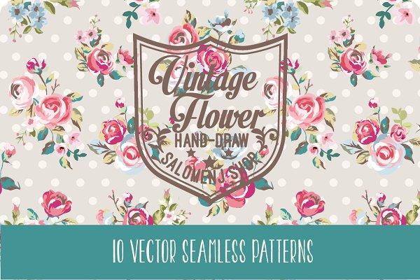 Seamless vintage patterns Vol.2